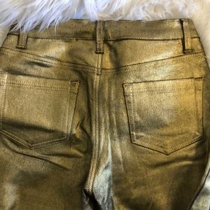 Jeans - NEW GOLD METALLIC BOOT CUT JEANS